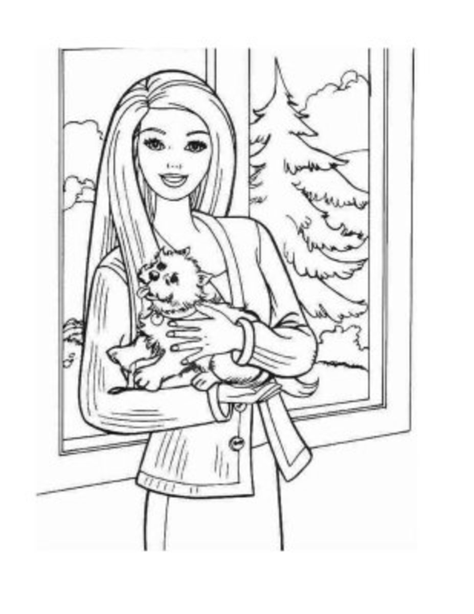 Barbie Colouring Pictures to Print-and-Colour.  Fashion Pet
