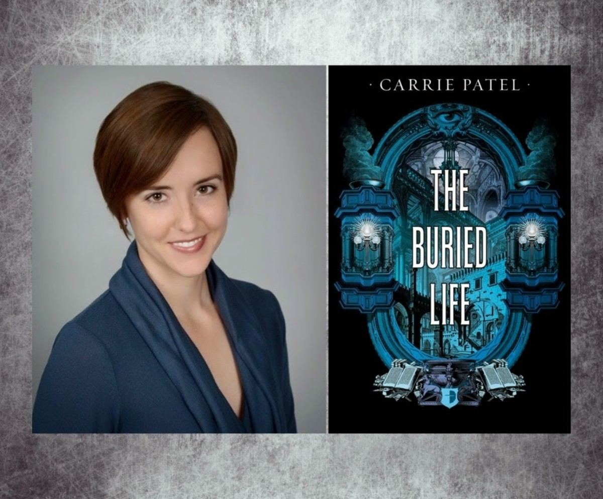 Photo of author Carrie Patel and the cover of her novel The Buried Life