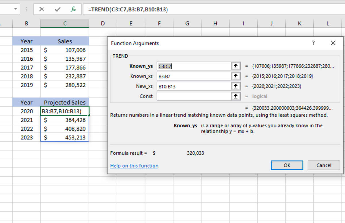 how-to-use-the-trend-function-in-excel