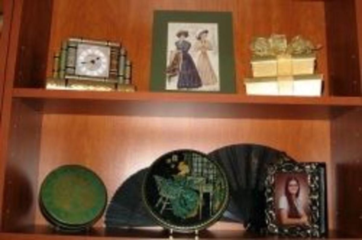 Vintage Tindeco Tin on my bookshelf.