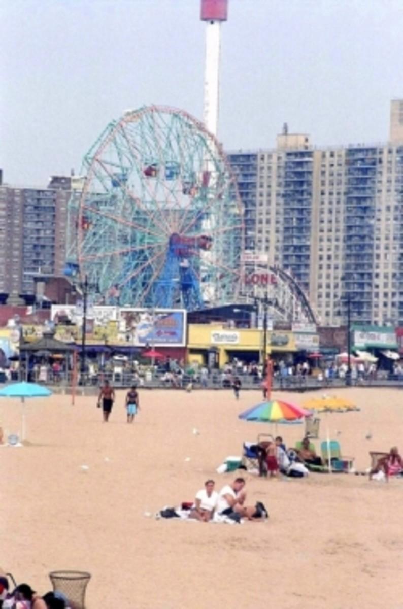Coney Island on a Sunny Day