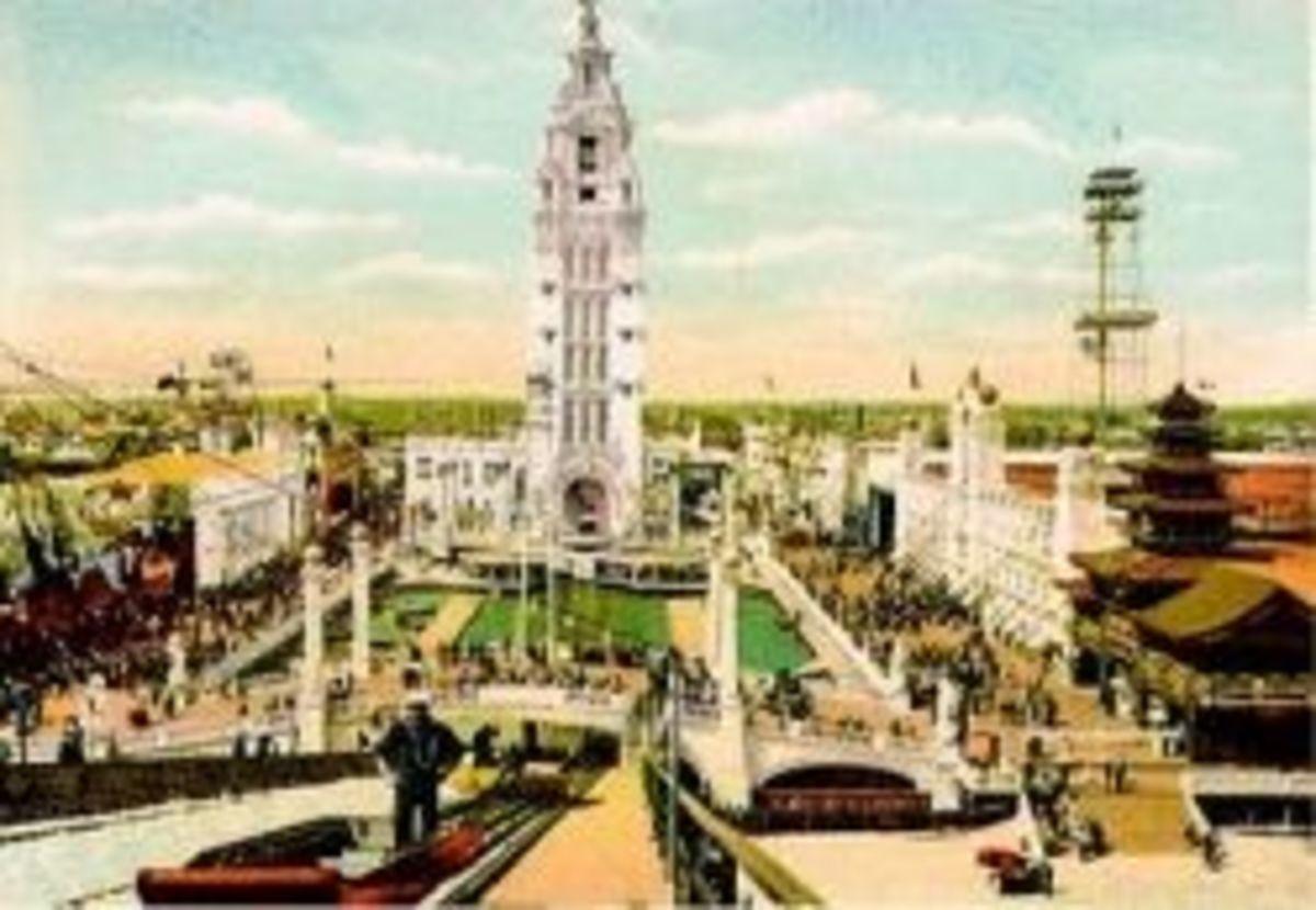 Vintage Postcard of Dreamland Amusement Park