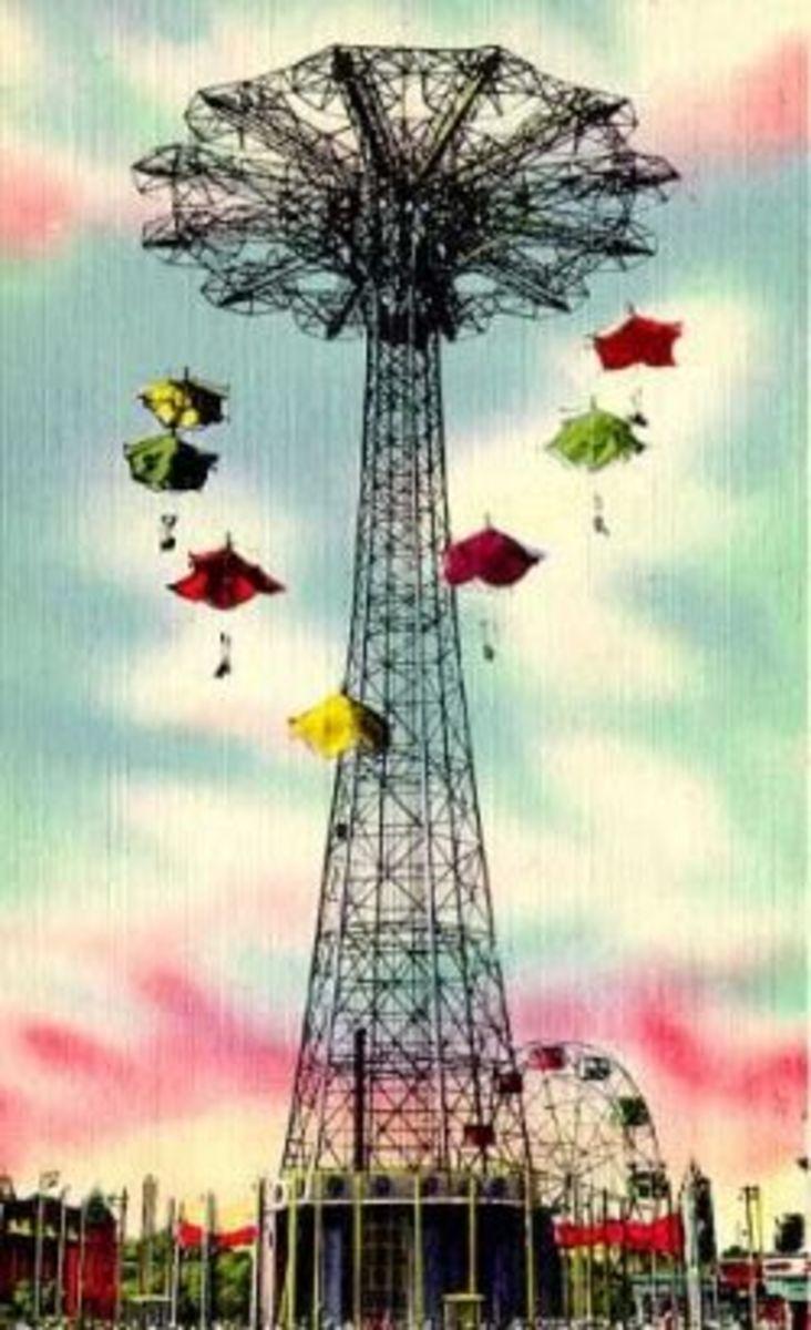 Vintage Postcard of The Parachute Jump