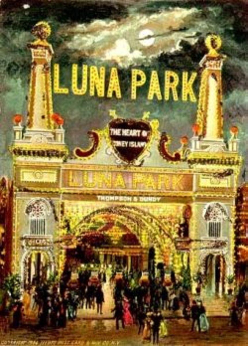 Vintage Postcard of Luna Park Entrance
