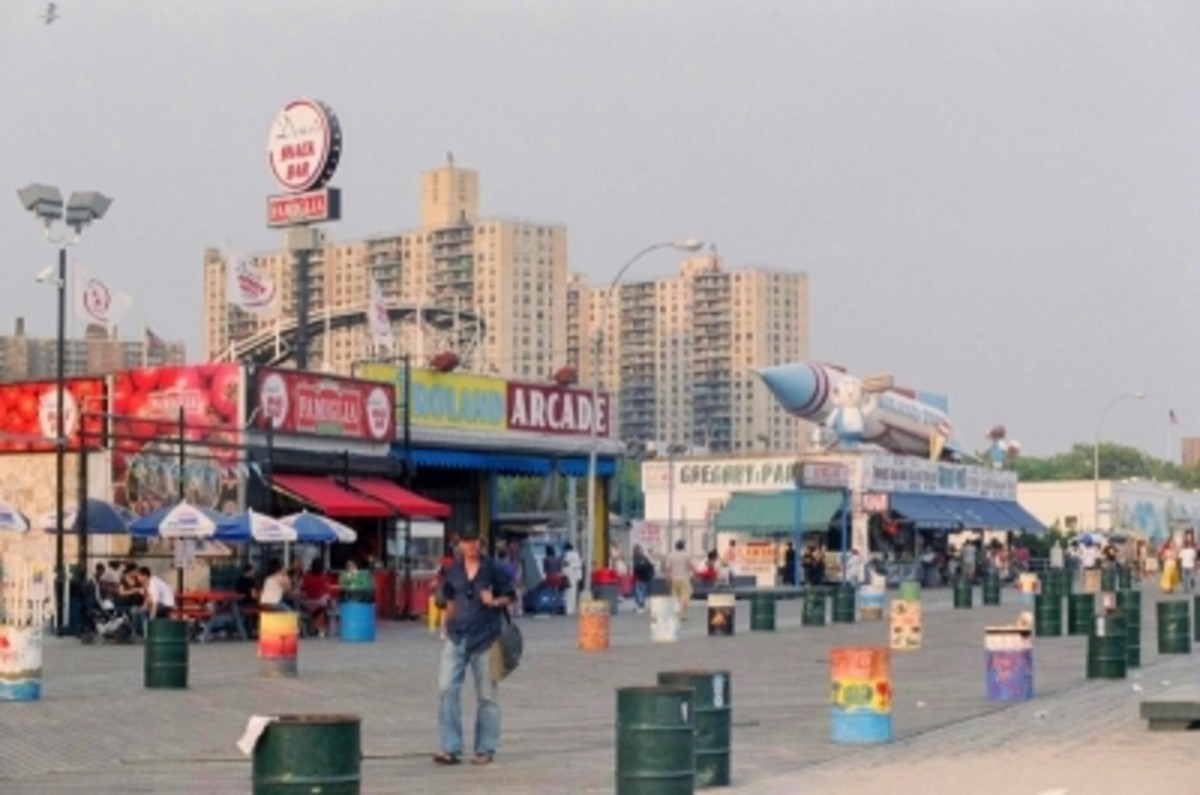 Coney Island Boardwalk on a Late Afternoon