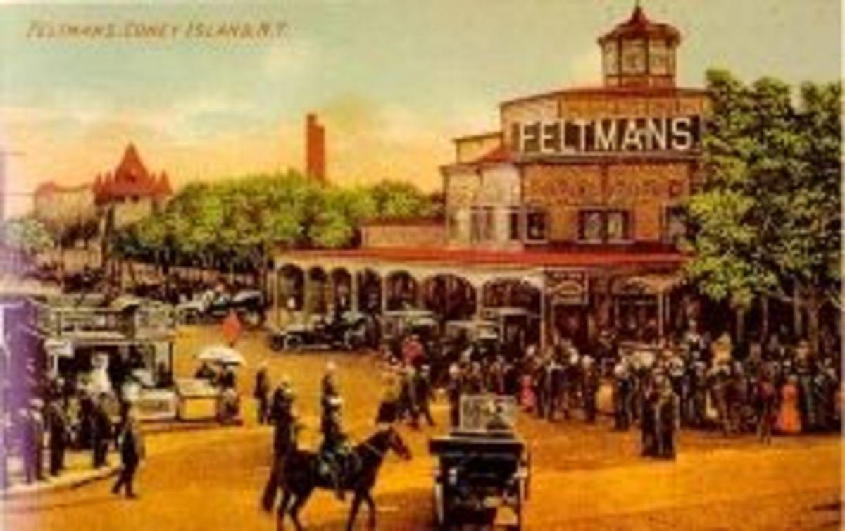 Vintage Postcard of Feltman's Restaurant, along Surf Avenue