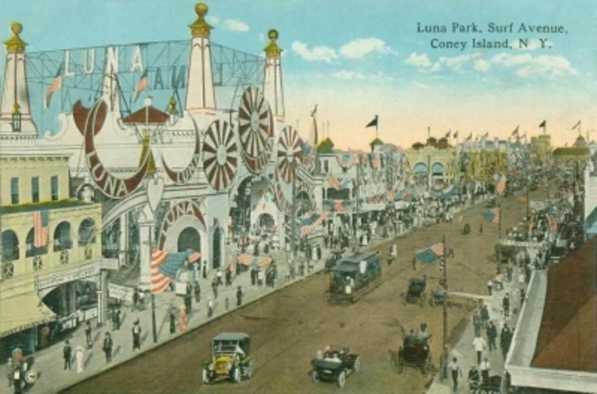Vintage Postcard of Luna Park and Surf Avenue