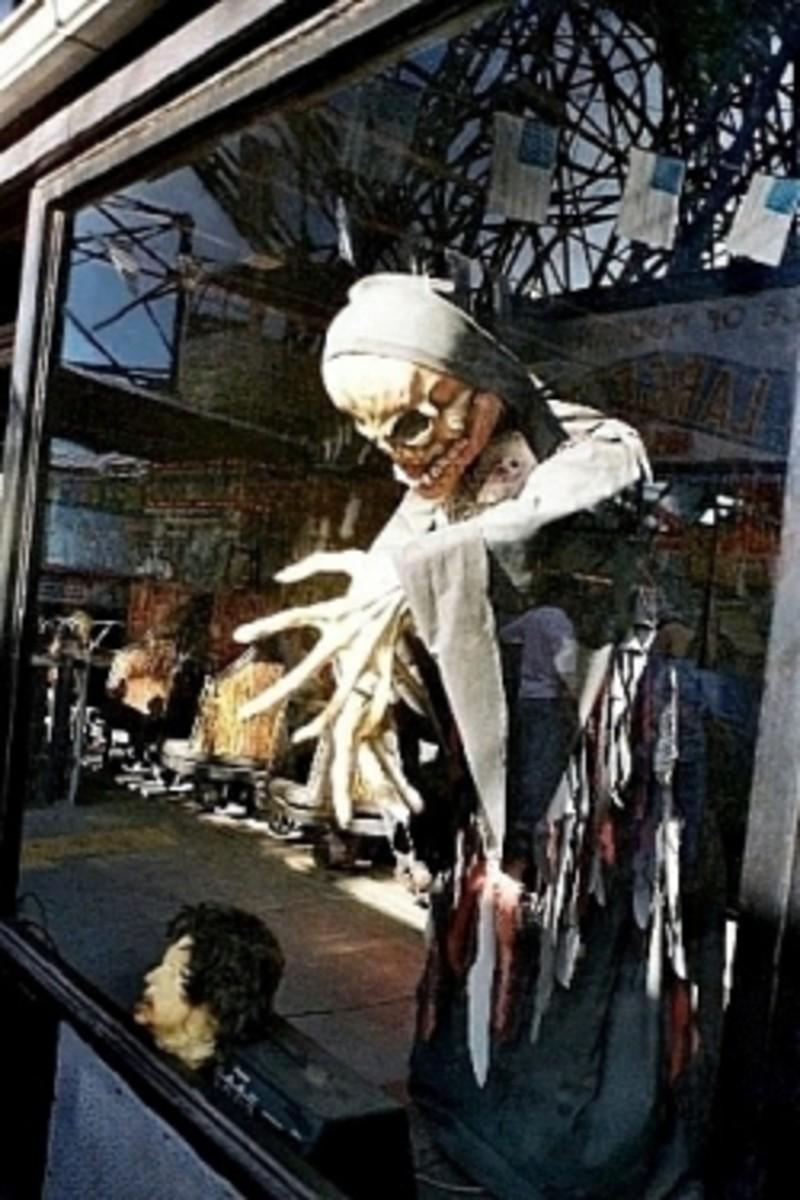 Spook-a-Rama Window with Wonder Wheel Reflection