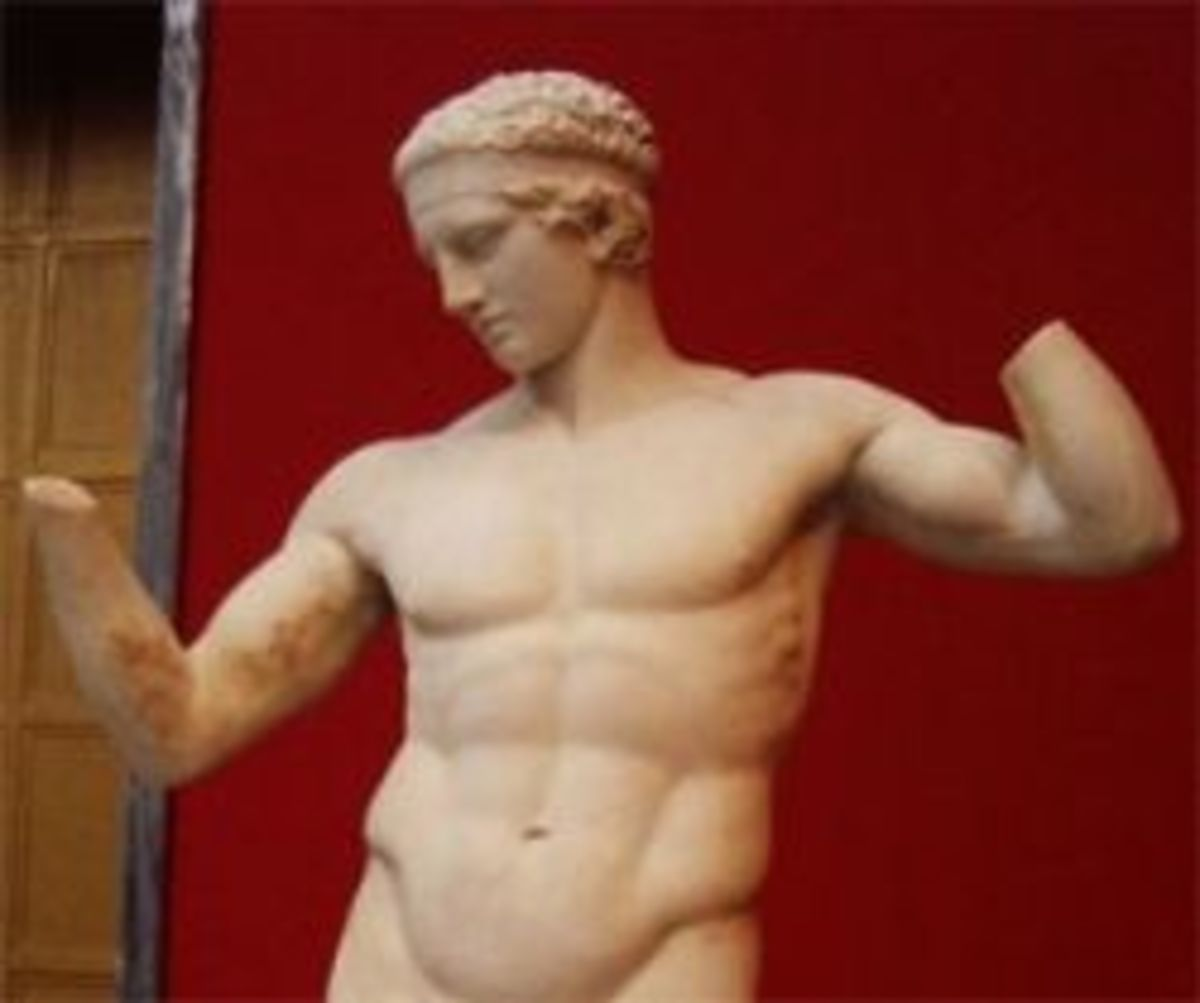 Roman Copy of Diadoumenos  (Photo by Ellen Brundige)