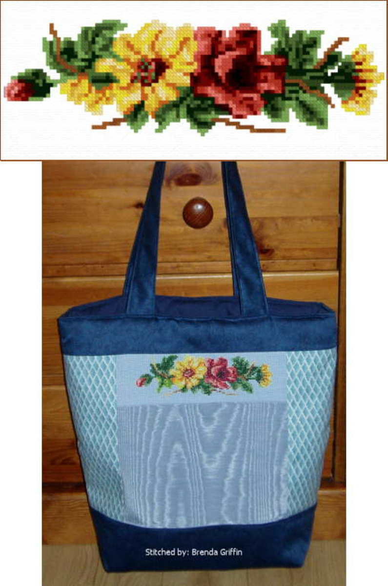 Beautiful free pattern plus idea of what to stitch it on.