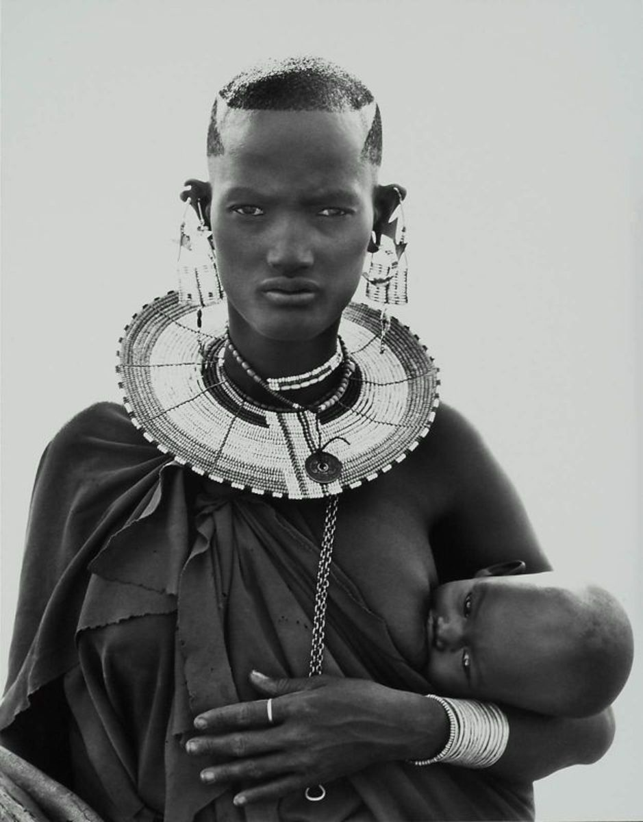 "HERB RITTS ""MAASAI WOMAN AND CHILD, AFRICA"""