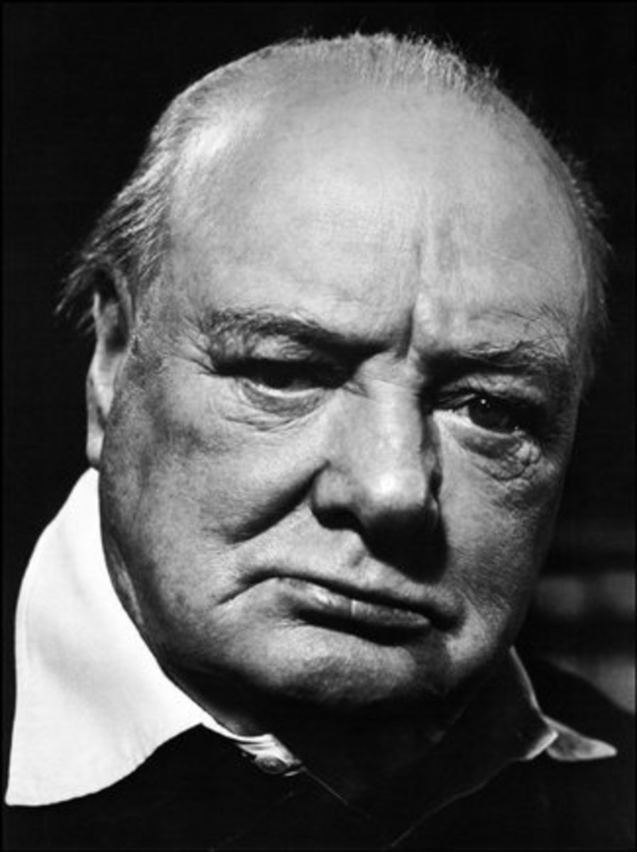 "PHILIPPE HALSMAN ""WINSTON CHURCHILL 1947"""