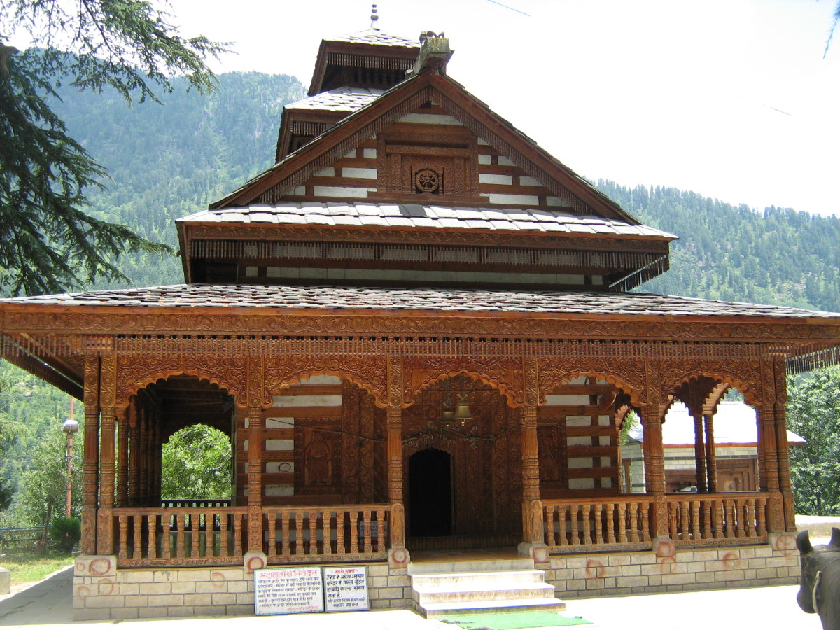 Lord Vishnu Temple, Manali - Wooden Temple