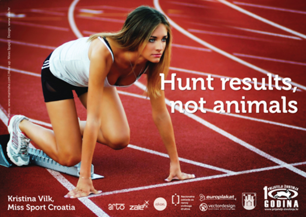 Miss Sport Croatia in a campaign for animal victims of hunting