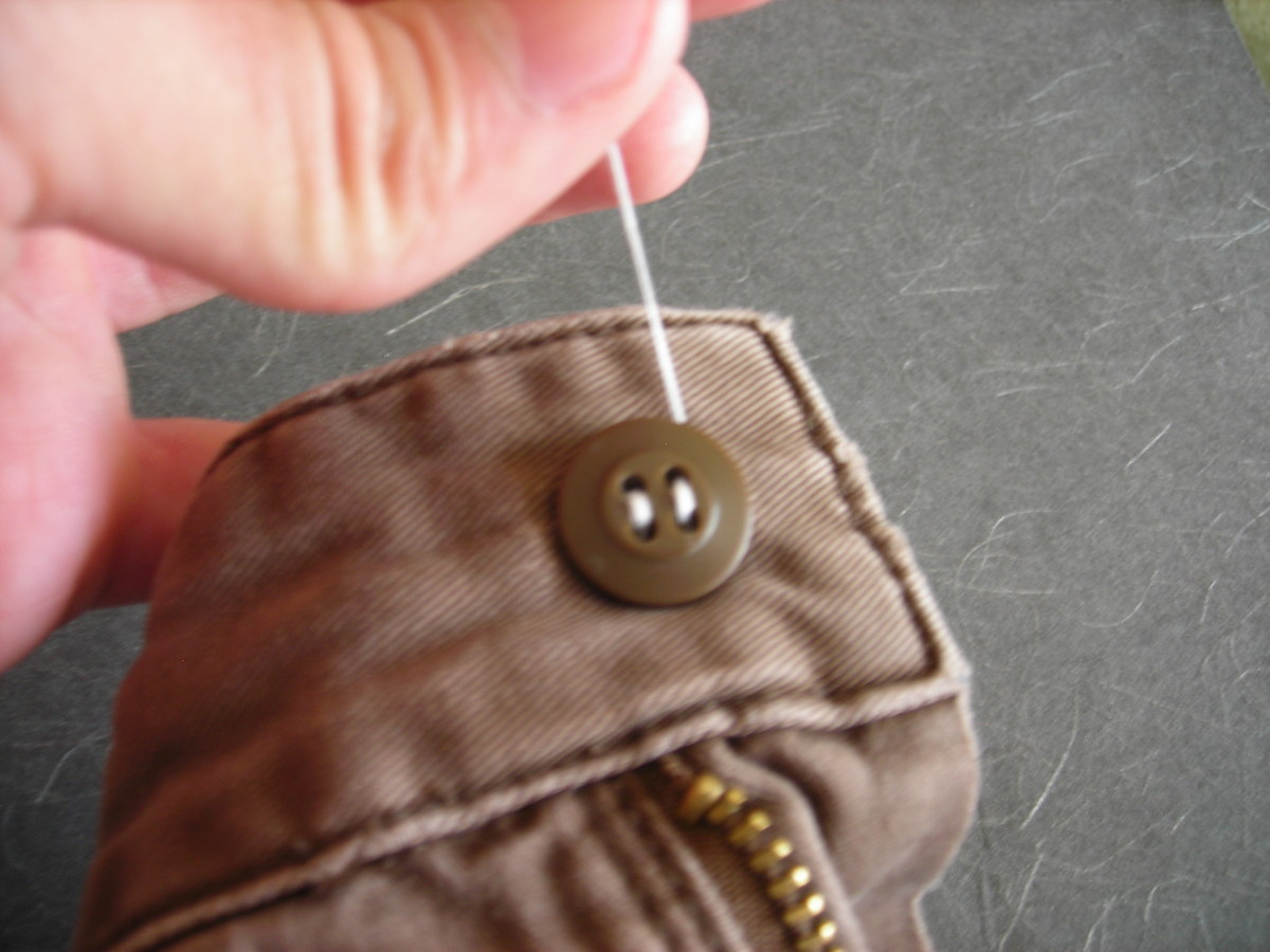 How to Put a Button On Pants