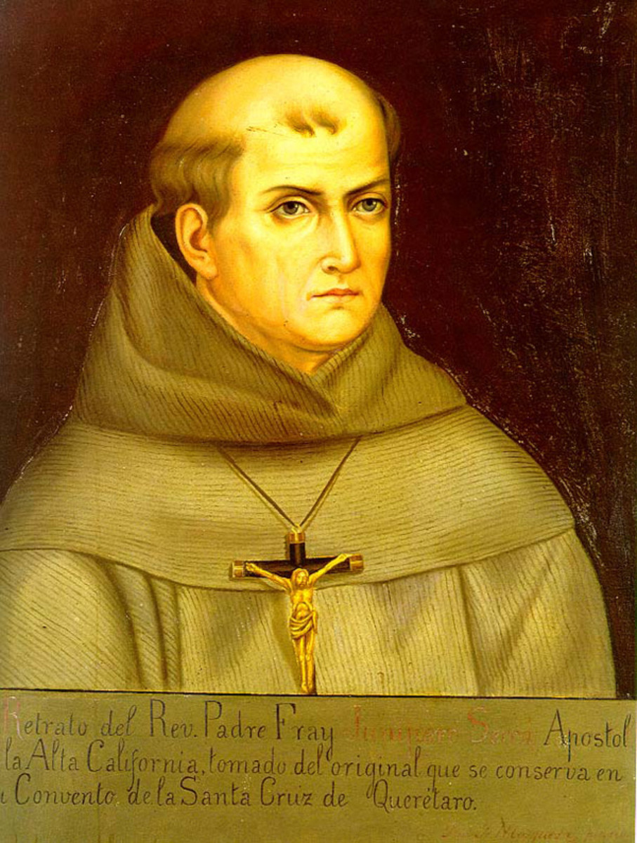 Father Junipero Serra. A much loved and well-remembered Franciscan Missionary.