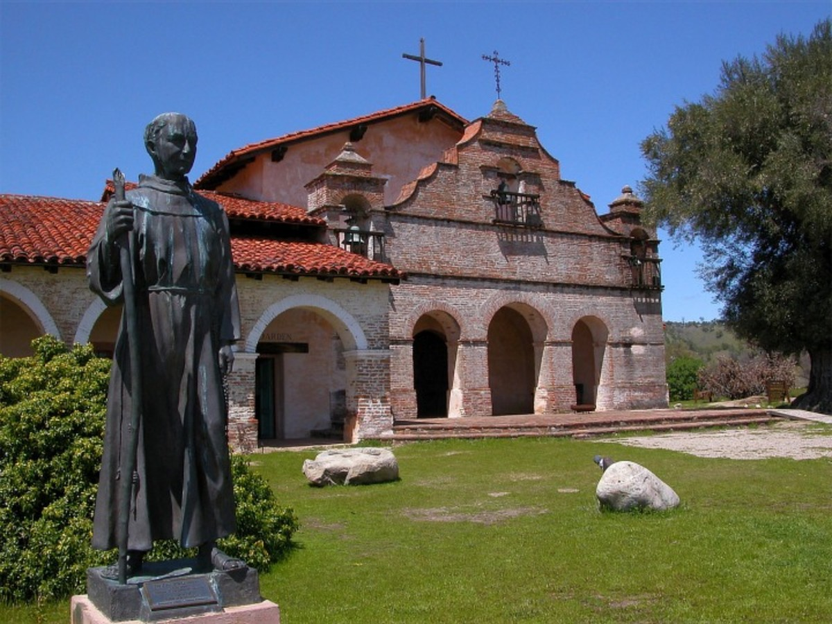 Mission San Antonio de Padua. The padres designed and built the churches of the missions for God.