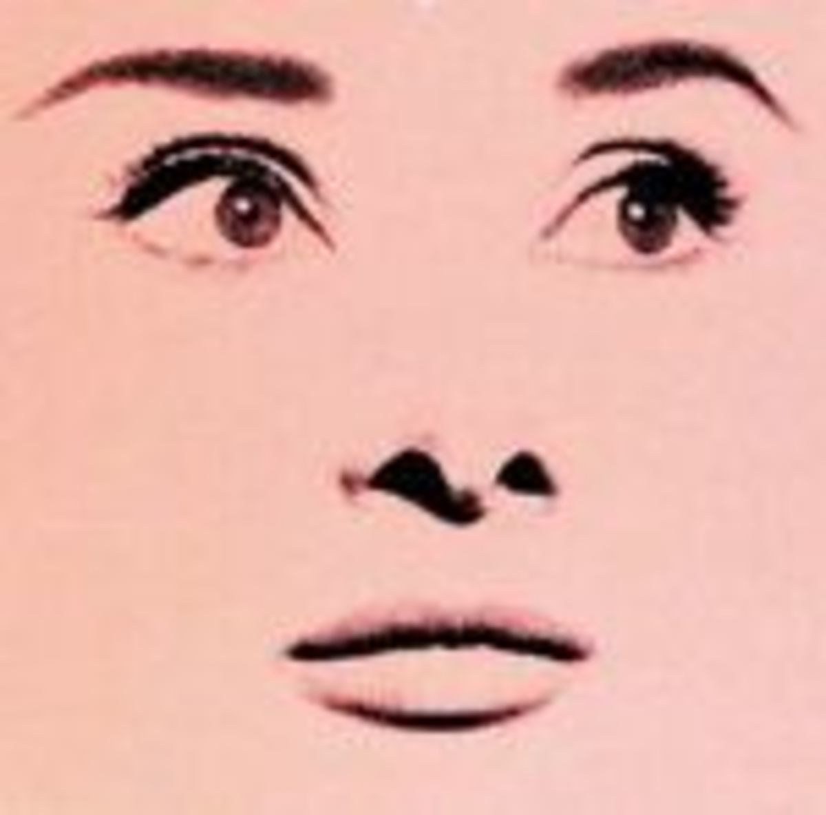 "The picture of Audrey Hepburn Avedon took for the film ""Funny Face""."
