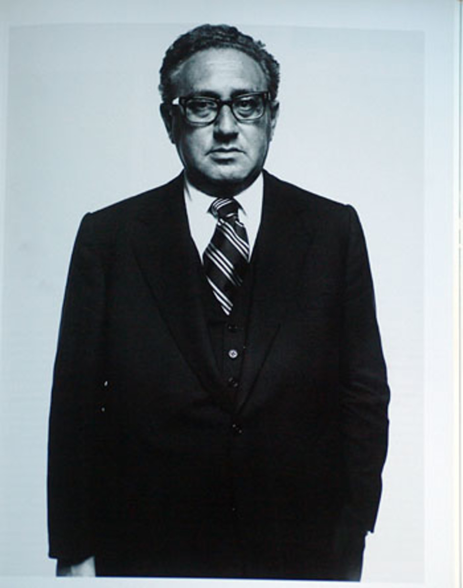 "Henry Kissinger asked Avedon to ""be kind"" to him when shooting his portrait."