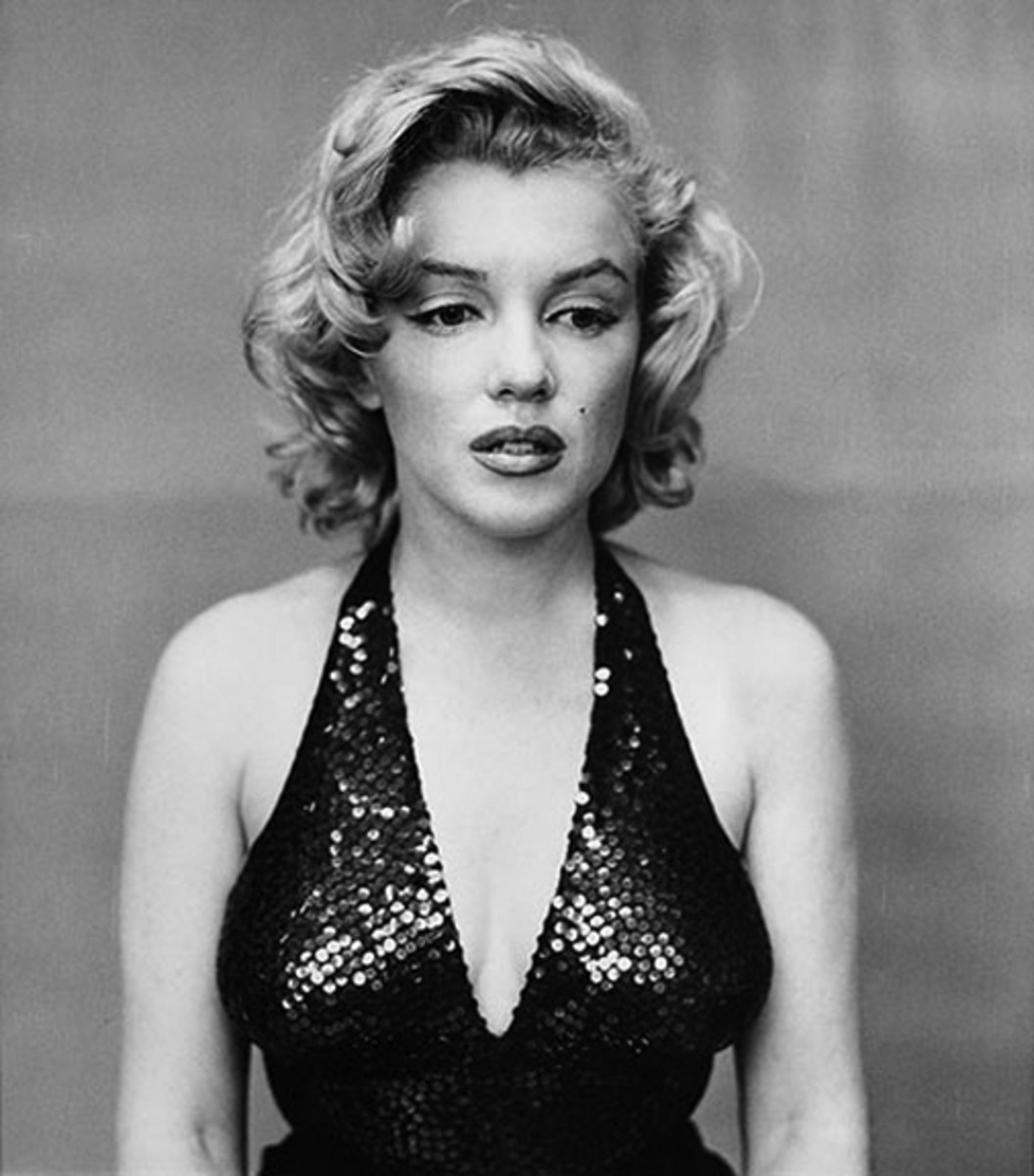 Avedon was known for his psychologically revealing portraits, such as this one of actress Marilyn Monroe.