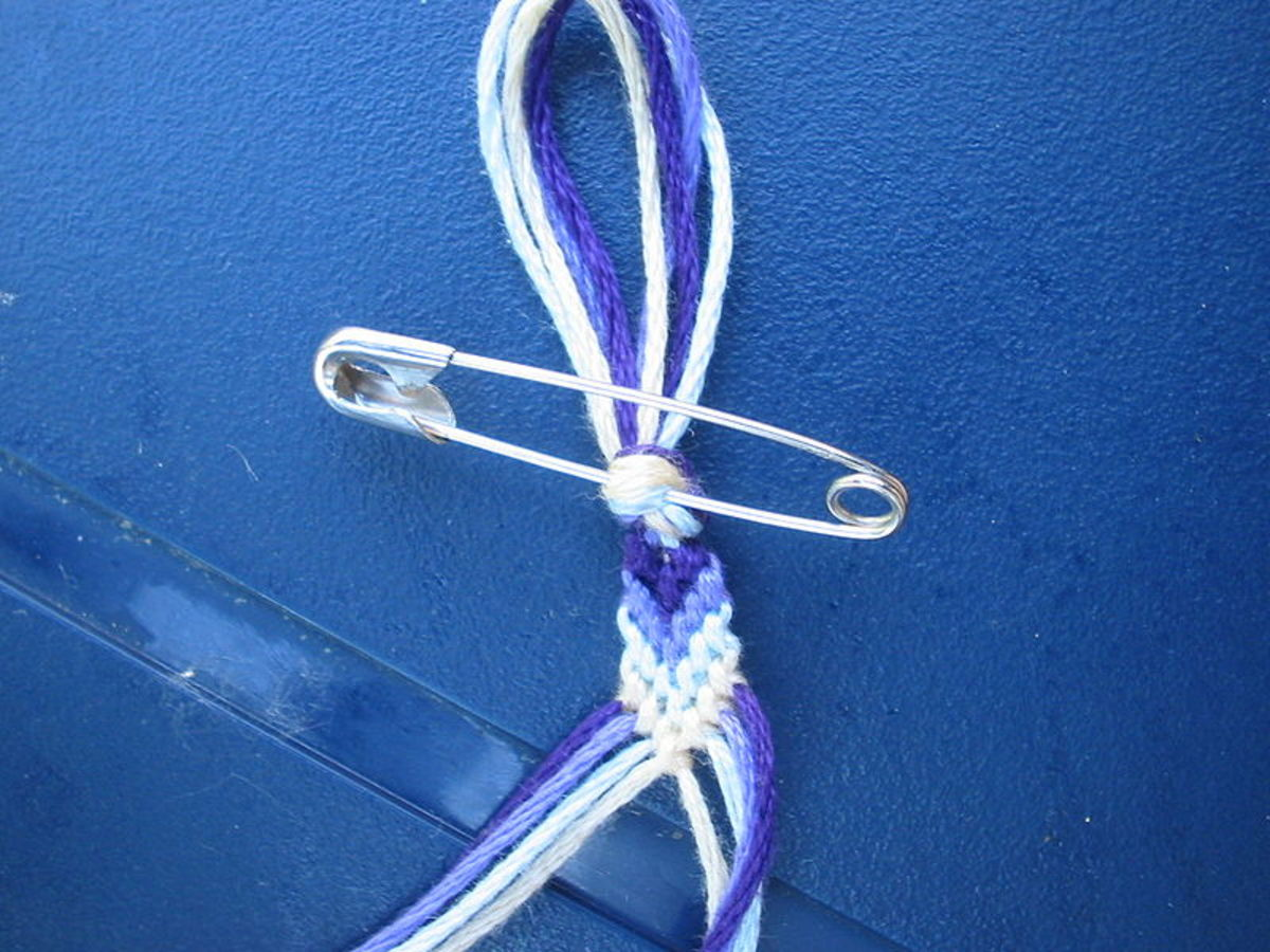 Beginning a Friendship Bracelet