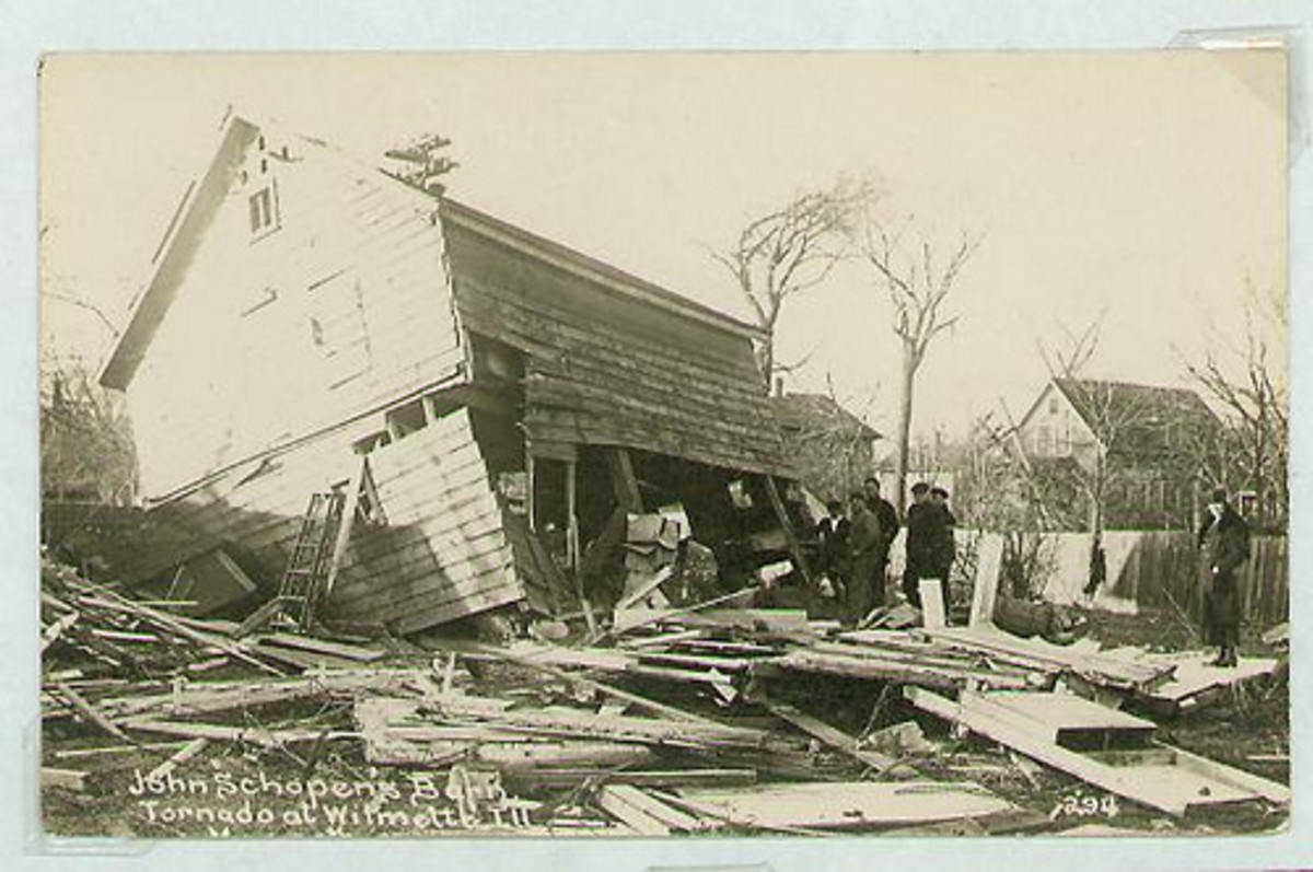 Three Palm Sunday Tornadoes are known in history, in 1920, 1965 and 1994. Above, is an image from the destruction of 1920 outbreak.