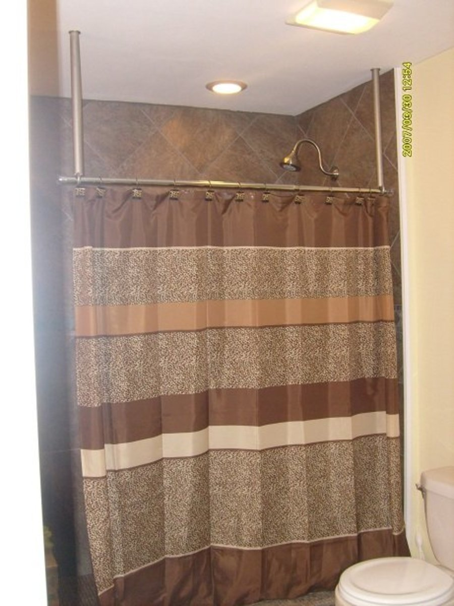 Ceiling Support Rod For Shower Curtain L-shaped Shower Curtain Rod