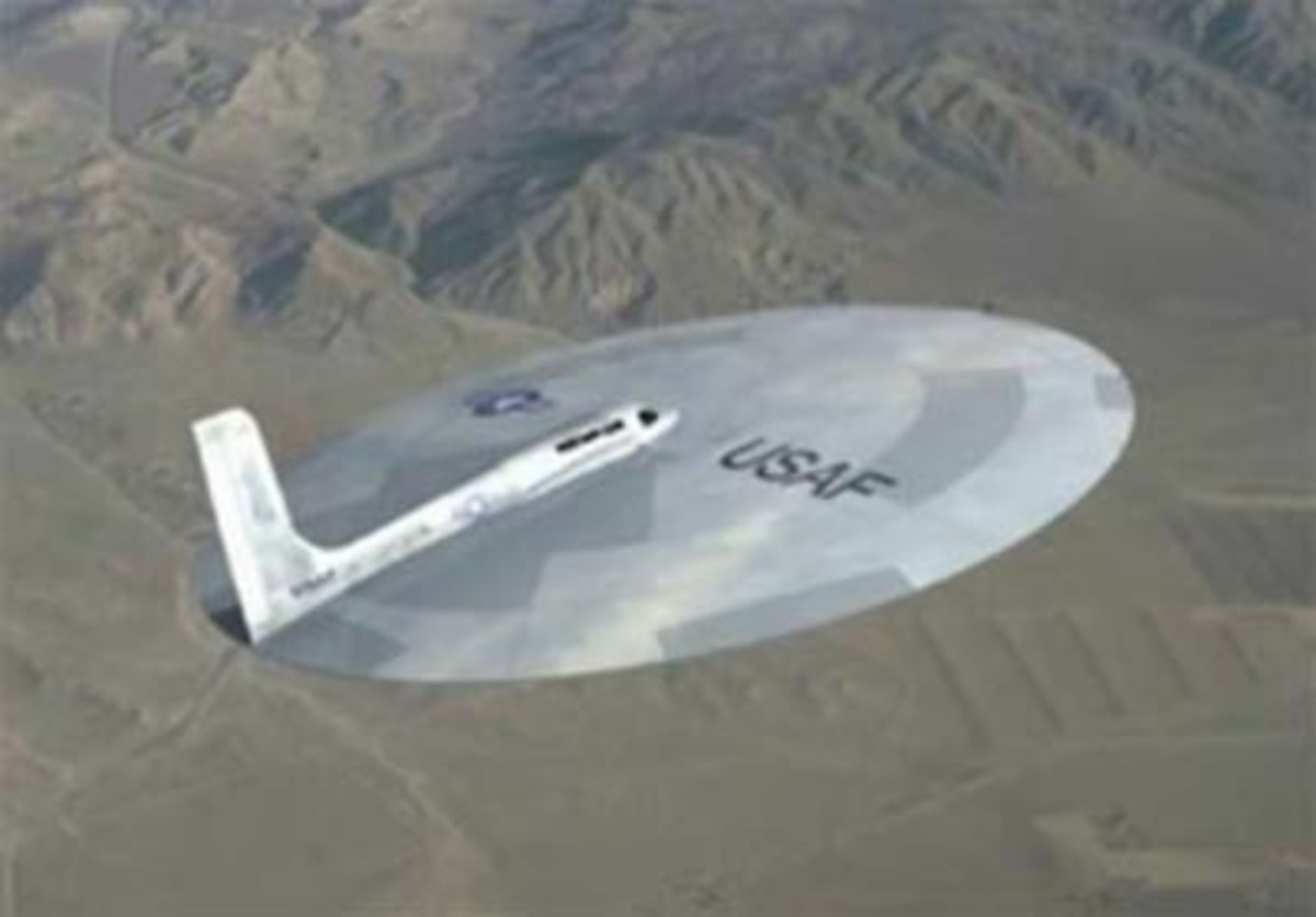 This Lenticular Reentry Vehicle (LRV) as a working aircraft used by the USAF. It is nuclear powered according to the sources and can fly into low earth orbit and deliver a nuclear punch.