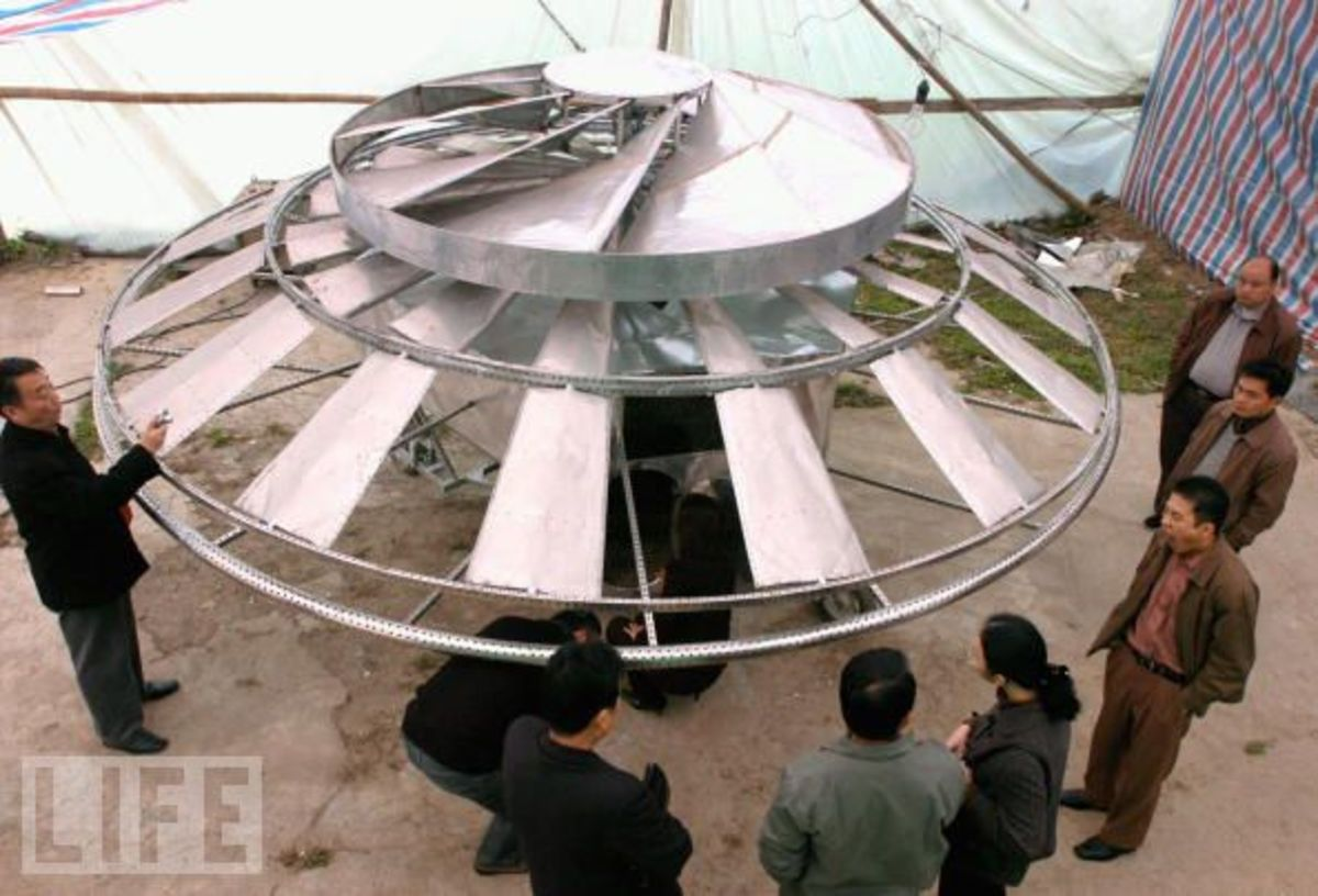 This is a turbofan for one type of terrestrial atmospheric flying saucer.