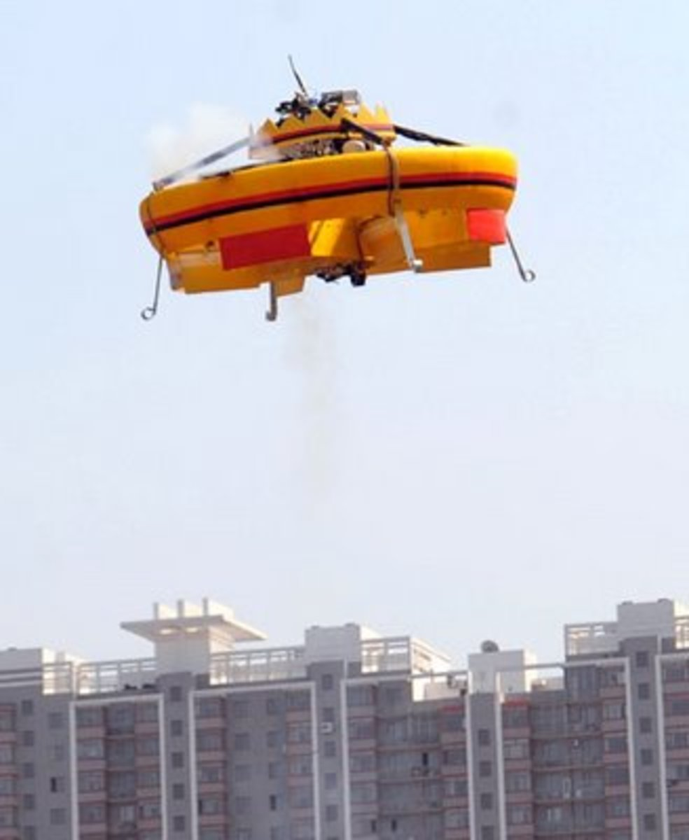 This Chinese flying saucer has been seen frequently in the skies of China recently.