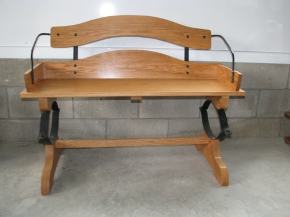 Oak Buggy, Wagon, Buckboard Bench Seat