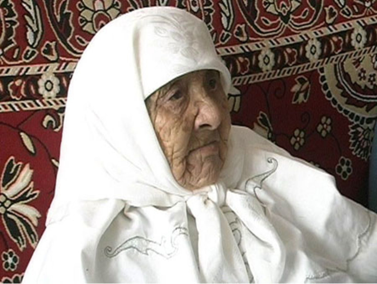 Sakhan Dosova from Kazakhstan Was 130 Years Old When She Died And The Oldest Woman In The World. She Died After Slipping On the Bathroom Floor of Her Flat