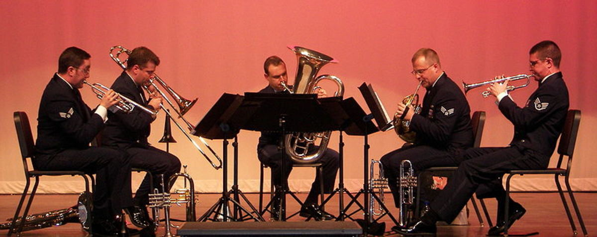 Air Force Brass Quintet (public domain image)