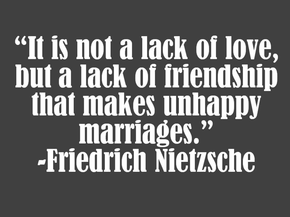Friedreich Neitzsche Marriage Quote