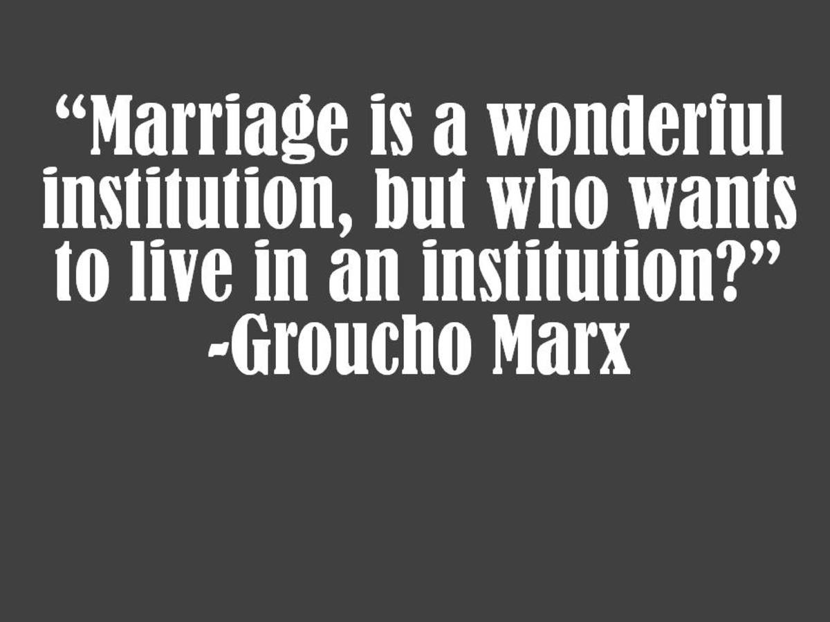 Funny Groucho Marx Marriage Quote