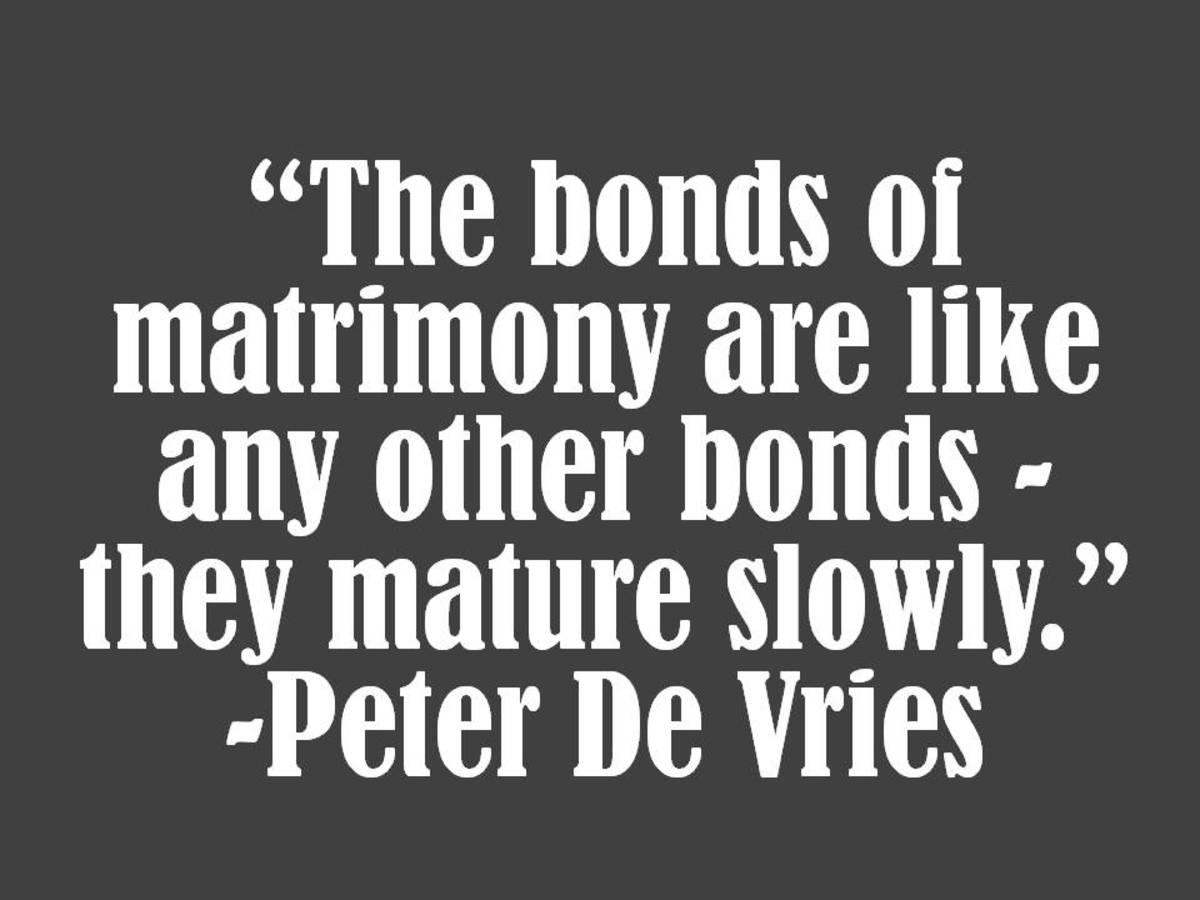 Peter De Vries Marriage Quote