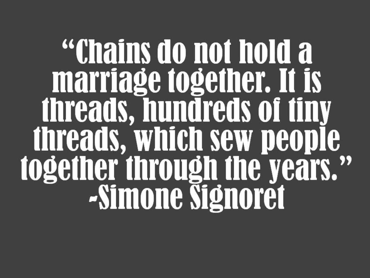Simone Signoret Marriage Quote