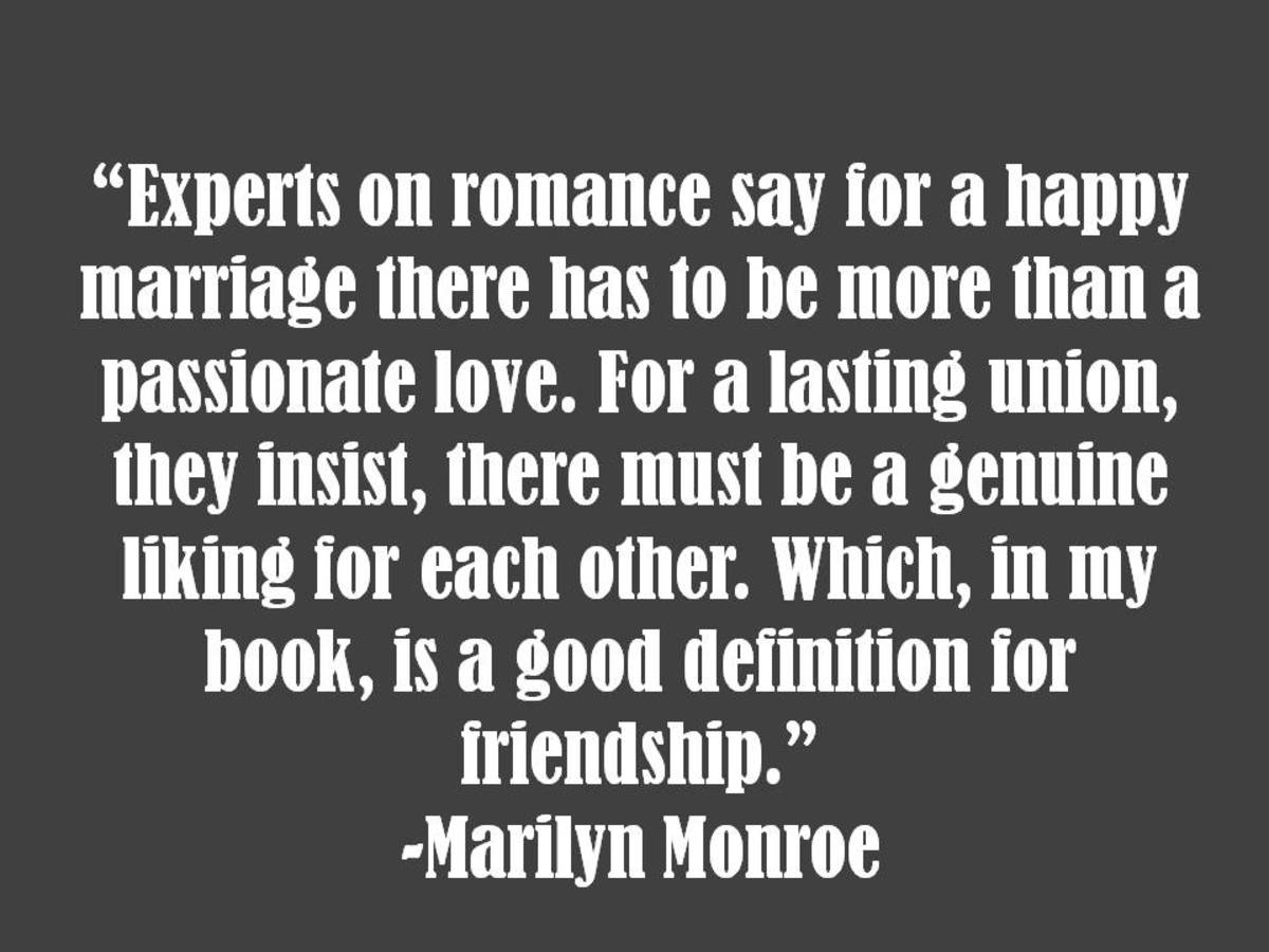 Marilyn Monroe Marriage Quote