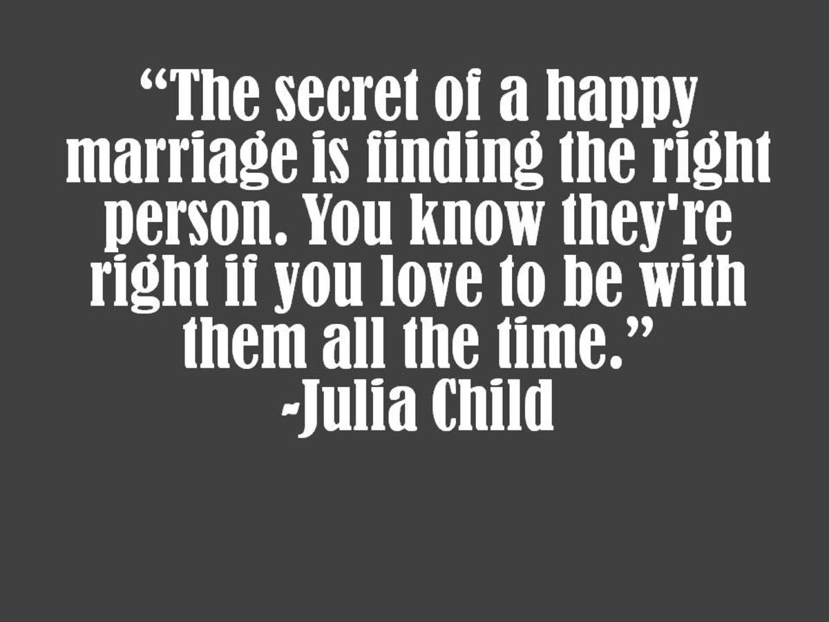 Julia Child Marriage Quote