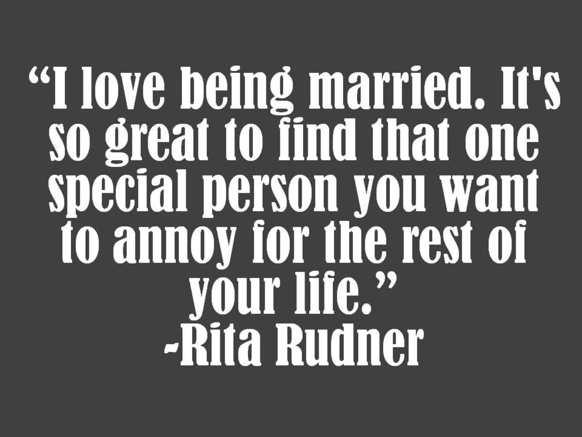Rita Rudner Marriage Quote