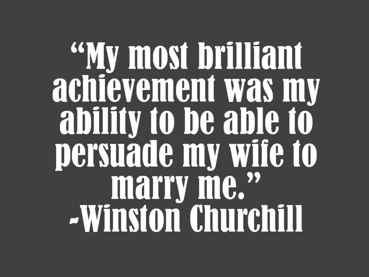 Winston Churchill Marriage Quote