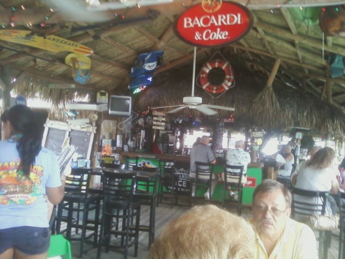 Inside the Crab Shack.
