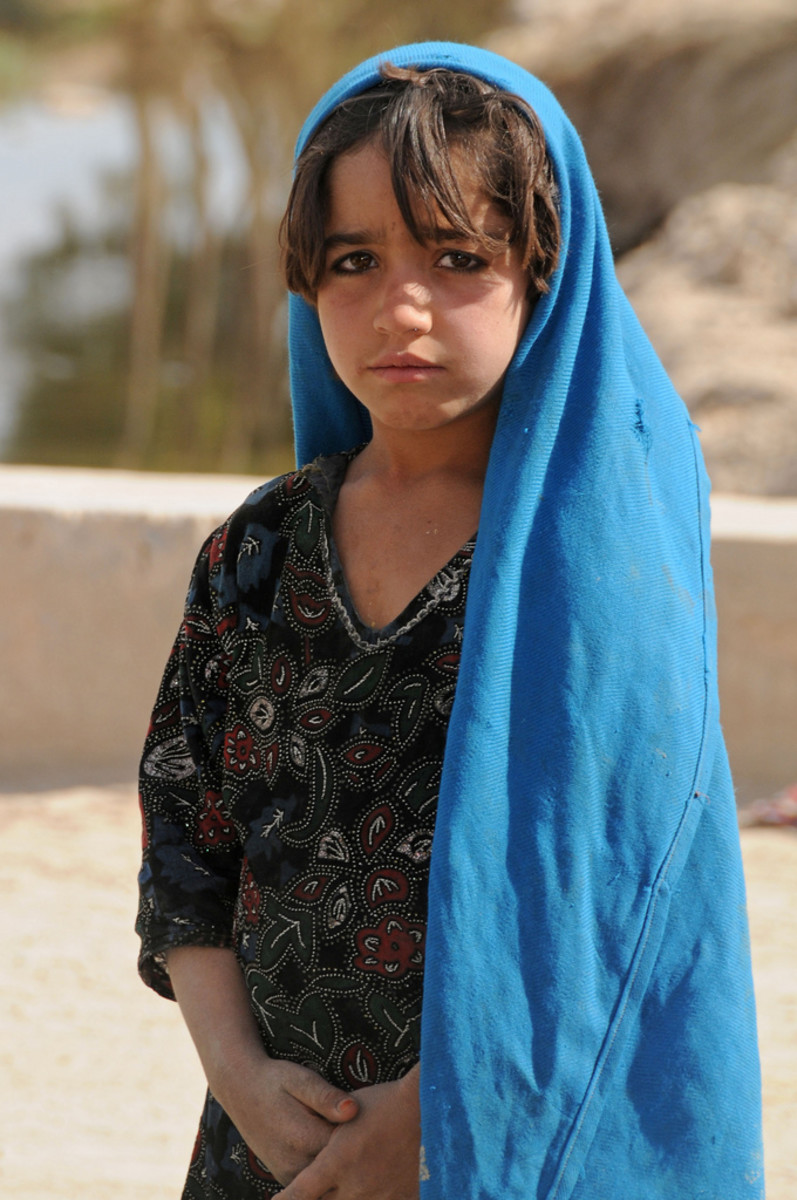 An Afghan girl in Deh Rawod, Afghanistan, November of 2008.
