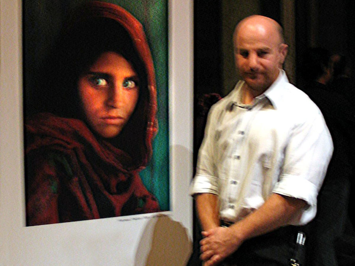 Steve McCurry's seminar at the National Gallery of Victoria with his photo of the 'Afghan Girl' (Sharbat Gula)