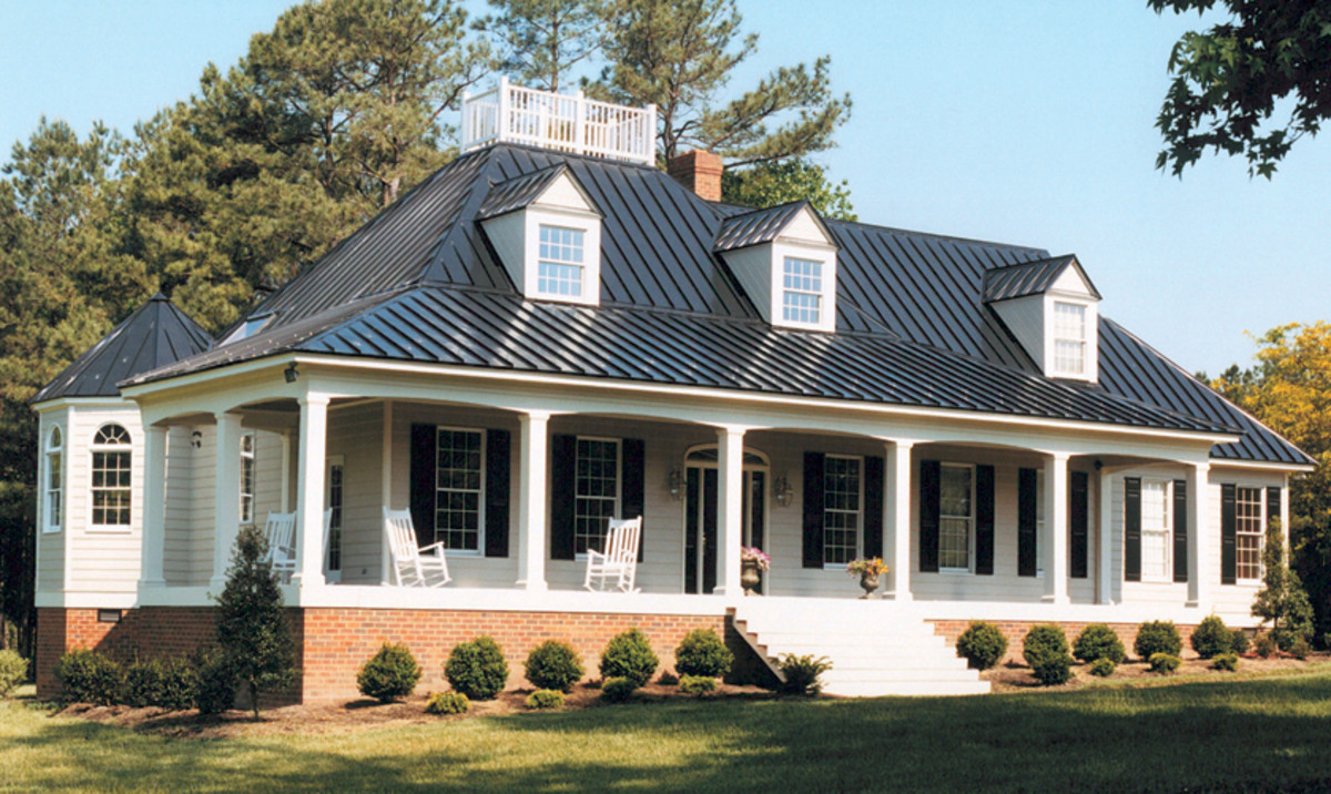 beautiful metal roof on a classic cape cod