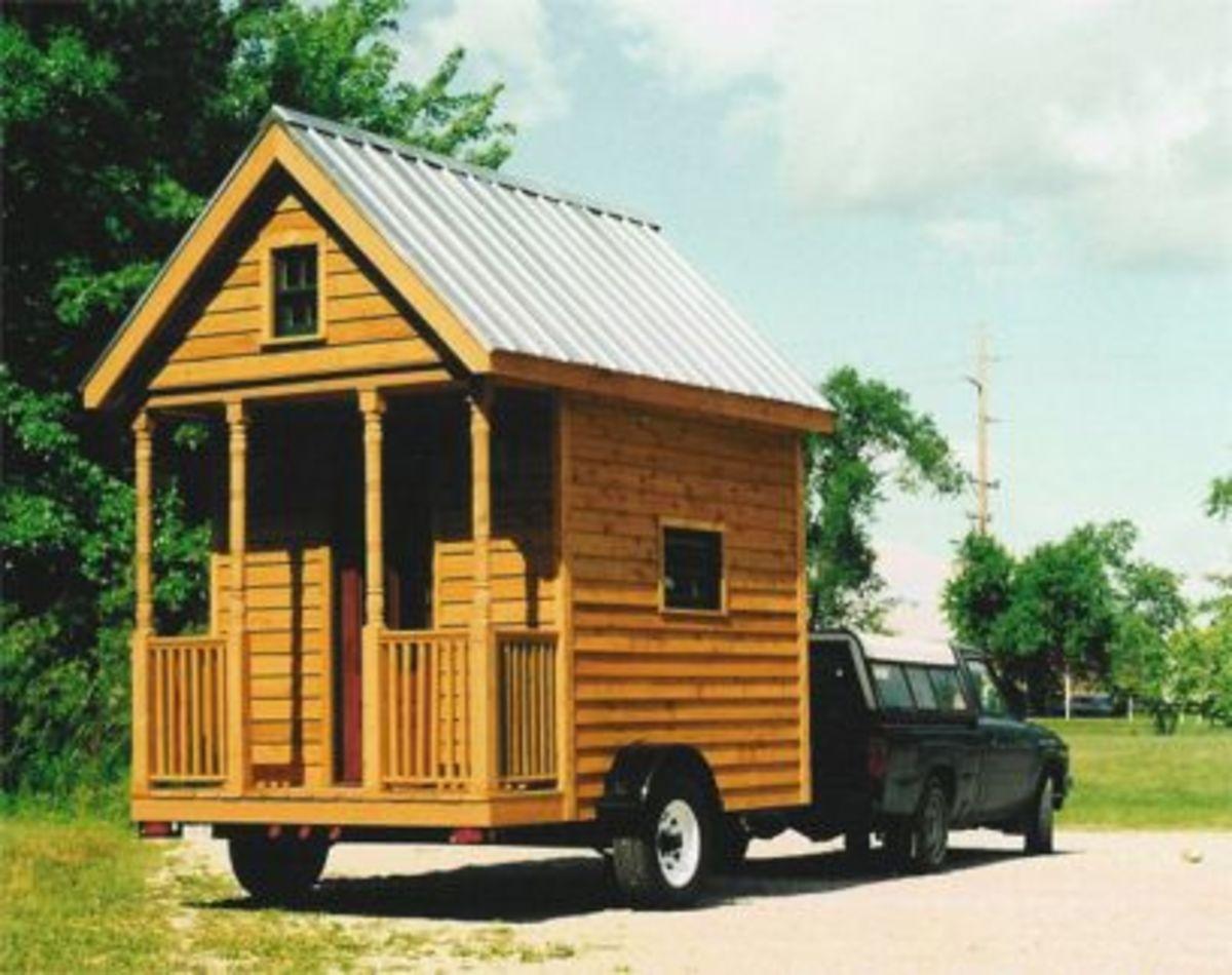 A tiny home on wheels