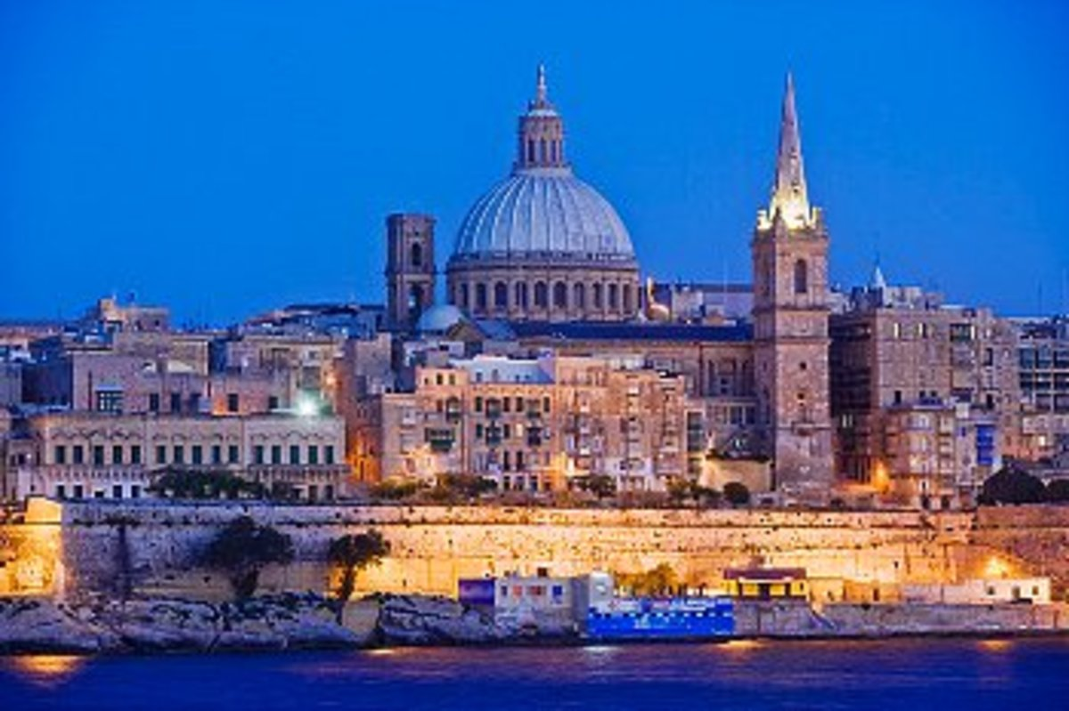 View of Valleta, the capital of Malta.