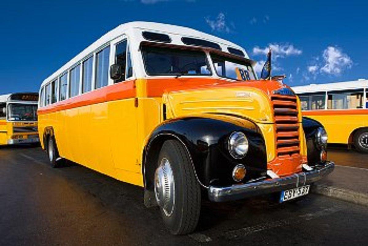 Famous Malta buses
