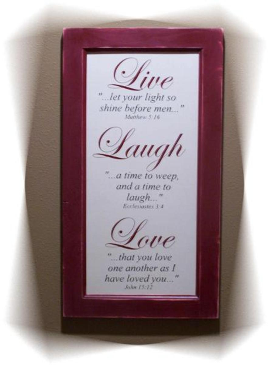 Live Laugh Love - Motivational Quote