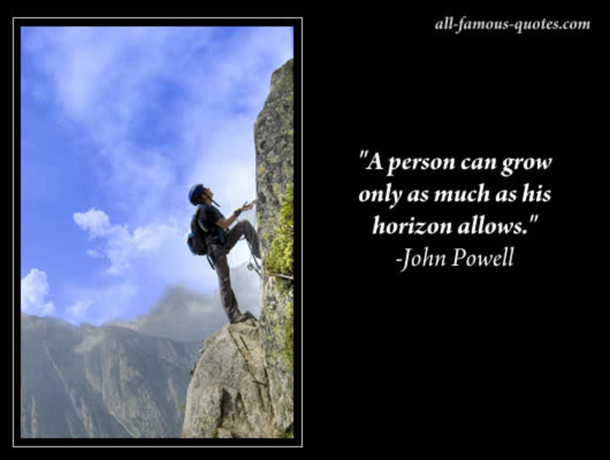 "Motivational Poster ""A person can grow only as much as his horizon allows"""